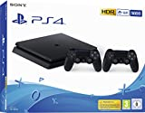 PlayStation 4 - Konsole (500 GB, schwarz, slim, F-Chassis) inkl. 2 DualShock 4 Controller