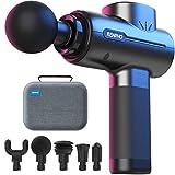Massagepistole, RENPHO Muskelmassagegerä Tragbar Mini Massage Gun mit 5 Massageköpfen für Home Gym Office Schmerzlinderung nach dem Training, schwarz
