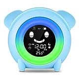 Wecker für Kinder - Lovebay Kinderwecker Wake Up Lichtwecker, Kinder schlafen Trainer mit 7 Farben Ändern Lehren Kids Zeit zum Aufwachen, Aufladen USB