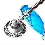 Cokeymove 6-Zoll-Stahldraht-Radbürste Grasschneider Kopfmäher Unkrautschale Rasenmäherblätter Unkraut Effiziente Reinigungswerkzeuge für die Gartenpflege