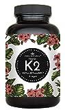 Vitamin K2 MK7-365 Kapseln. Hochdosiert mit 200µg (mcg) je Kapsel. 99% All-Trans. Laborgeprüft, ohne Zusätze wie Magnesiumstearat. Vegan, hergestellt in Deutschland