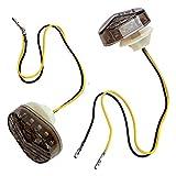 QOHFLD Für Kawasaki Blinker | Licht für | Licht Motorradlichter für Motorrad 2 Stück/Set Universal-Kontrollleuchten Motorradzubehör Motorradbeleuchtung
