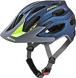 Alpina Unisex– Erwachsene Carapax 2.0 Fahrradhelm, darkblue-neon, 57-62 cm