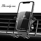 Handyhalterung Auto Schwerkraft, FLOVEME Horizontal Platziert Handyhalter fürs Auto Lüftung, Smartphone Halterung KFZ für iPhone 11 Pro XS XR X 8 Plus 7 Samsung S10 S9 S8 S7 Note 8 9 Huawei usw