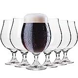 Krosno Dunkel Stout Biergläser 0,5 Liter   Set von 6   500 ML   Elite Kollektion   Perfekt für Zuhause, Restaurants und Partys   Spülmaschinenfest und Mikrowellengeeignet