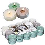Smart-Planet® Kerzen Ambiente - 30er Set Duft Teelichter Fresh Cotton Duftteelichter Teelichte Set 4 Stunden Lange Brenndauer - in transparente Hülle