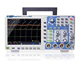 PeakTech 1340 – 4-Kanal Speicher-Oszilloskop 60 MHz - Max. 1 GS/s mit USB, LAN Schnittstelle & 8' Hochauflösendes TFT Farbdisplay, Speichertiefe 40 Mio. Punkte, FFT- & XY- Modus, DSO