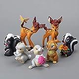 NamekPlanet - Set mit 7 Figuren Bambi Figur Spielzeug – 5 bis 9 cm