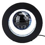 ZJchao Magnetic Levitating Globe, Geschenkdekoration Schwebender schwebender Globus, Magnetische Schweben Weltkarte Kugeln interaktiver globus die Kugel Weltkarte (3 Zoll + Silber Schwarz)