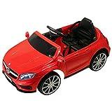 HOMCOM Mercedes Benz AMG Lizenz Kinder Elektroauto Kinderfahrzeug 1 x 6 V Motor Fernbedienung USB-Anschluss für MP3 Licht Rot 100 x 58 x 46 cm