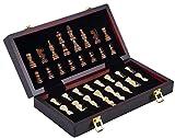 Engelhart - Wunderschönes Deluxe Schachspiel aus Holz, 30 cm x 30 cm x 5,5 cm - 150203