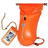 Zsroot Schwimmboje, Schwimmkabine - Schwimmboje im Freien - Schwimmkabine für Schwimmer im offenen Wasser und Triathleten-Schwimm- und Packsack für sicheres Trainings- und Rennpaket