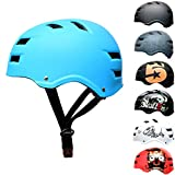 Skullcap® Skaterhelm Erwachsene hellblau Blue Ocean - Fahrradhelm Damen Herren ab 14 Jahre Größe M 55-58 cm - Scoot and Ride Helmet Adult Light Blue - Skater Helm für BMX Inliner Fahrrad Skateboard