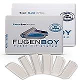 Fugenboy® Silikon Fugenglätter 6er Set | Made in Germany | 5mm, 8mm, rund, 11mm, 14mm, 17mm | Fugenspachtel für Fliesen und Edelstahl | ideal für Küche und Bad | Patentrechtlich geschütztes Werkzeug