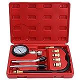 Fippy Kompressionstester Benzinmotoren Druck-Prüfgerät, Motor Öldruck Tester Kompressionsprüfer mit Tragetasche