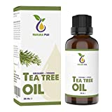 NATURA PUR Bio Teebaumöl 30ml - 100% naturreines ätherisches Öl aus Australien, vegan - zur Anwendung auf unreiner Haut, Hautentzündungen, Anti Pickel, Akne sowie Warzen und Pilzen - Diffuser Öl