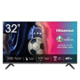 Hisense 32AE5500F 80 cm (32 Zoll) Fernseher (HD, Triple Tuner DVB-C/S/S2/T/T2, Smart-TV, Frameless, Prime Video, Netflix, YouTube, DAZN)