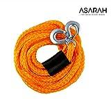 ASARAH elastische Auto Abschleppseil 4 m für alle gängigen KFZ bis 3,0 t, kompakt für Ihre Sicherheit 1 Stück