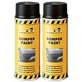 Chamäleon Bumper Paint Schwarz 2 x 400ml Stoßstangen Spray Lack Kunststoff Farbe