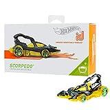 Hot Wheels iD FXB10 - Die-Cast Fahrzeug 1:64 Scorpedo mit NFC-Chip zum Scannen in der Hot Wheels iD App, Auto Spielzeug ab 8 Jahren