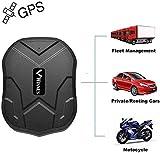 Winnes Starker Magnet GPS-Tracker, 3 Monate Lang Standby GPS, Fahrzeug Tracker Echtzeit Monitoring System, wasserdicht GPS Locator, Anti Verloren GPS Ortungsgerät mit Kostenlos APP für Smartphone