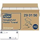 Tork Zickzack Papierhandtücher Universal 290158 - H3 Falthandtücher für Papierhandtuchspender - 1-lagig, weiß - 15 x 300 Tücher