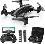Holy Stone Faltbare GPS Drohne HS165 mit 2K Kamera HD Live Übertragung für Anfänger,RC Quadrocopter Ferngesteuert mit lange Flugzeit,Follow Me, Return Home,5G Wlan Tap Fly Ideal für Kinder inkl.Koffer