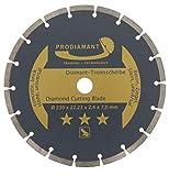 PRODIAMANT Diamant-Trennscheibe universal 230 x 22,2 mm Beton, Stein, Ziegel 230mm Diamantscheibe 7mm Segment