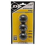 3x Dunlop Squashbälle Farbe : DOPPELGELB
