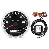 Vobor GPS Tachoanzeige - 85mm 120km / h 12V / 24V Motorrad GPS-Geschwindigkeitsmesser-Digital-IP67 wasserdichtes Meter-Messgerät