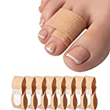 8 StückeHammerzehen Zehenbandage,Hammerzehen Korrektor Zehenschiene zu korrigieren Hammerzehe, Gekrümmte Zehen, Uberlappende Zehen