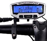 Bingo-Shop Fahrradcomputer Wasserdicht 28 Funktionen Fahrradcomputer LCD Geschwindigkeit Fahrradtacho Radcomputer Tacho Kilometerzähler F8