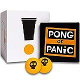 PONG OF PANIC Beer Pong Trinkspiel - Witzige Aufgaben unter jedem Becher - Partyspiele, Saufspiele, Trinkspiele für Vorglühen, Festival und Partys