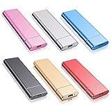 Externe Festplatte 1tb Type C USB 3.1 für PC, Mac, Desktop, Laptop, MacBook, Chromebook (1tb, Blau)