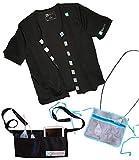 Mastectomy Hemd mit Abflusstaschen Port Access Must Have Recovery Kleidung schwarz