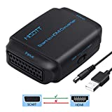 Scart auf HDMI Adapter, MISOTT Scart zu HDMI Konverter, Scart Eingang HDMI Ausgang Konverter