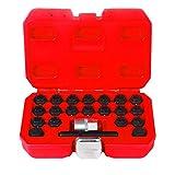 BELEY 22-teiliges Radschloss-Mutter-Entfernungs-Set für Auto-Rad, Diebstahlschutz, Schrauben-Entferner, Steckschlüssel-Entferner für Audi, 22 Stück