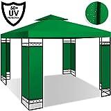 Kesser® - Pavillon 3x3m wasserabweisend UV-Schutz 50+ Metall Gestell Partyzelt Gartenzelt Gartenpavillon 9m² Festzelt, Grün