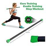 Sport-Tec Gewichtsstange 3 kg, grün, Hantelstange, Langhantel, Gewichtsstab