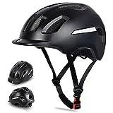 Fahrradhelm für Herren Damen Erwachsene, Sicherheitsschutz Komfortabler Mountainbike Helm Rennradhelm, Leichter verstellbarer Radhelm mit reflektierendem Streifen und Abnehmbarem Liner, 58-62 cm