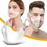 ASHOP Gesichtsschutz_Plexiglas - Waschbare Wiederverwendbare Face_Visier für Herren Damen Transparente Offene Face_Shield Gesichtsschutz_Sicherheitsgesichtsschutz (1 Stück, Weiß)