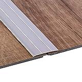 Gedotec Übergangsprofil selbstklebend Übergangs-Schiene Laminat - Vinyl - Teppich UVM.   Boden-Profil flach   Aluminium Silber eloxiert   Länge 100 cm   Breite 37 mm   1 Stück - Boden-Schiene Alu