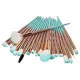Make-up Pinsel, Nincee 20er Premium Kosmetik Make-up Pinsel Set zum Mischen von Foundation Powder Blush Concealers Textmarker Lidschatten Pinsel Kit (Grün)
