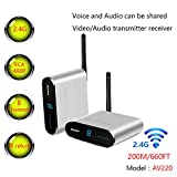 Measy AV220 2,4 GHz Wireless AV Sender Transmitter und Empfänger Audio Video bis zu 200 m/660ft