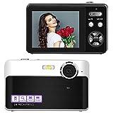 Digitalkamera Kompaktkamera 24MP Fotoapparat Digitalkamera 2,4 Zoll LCD-Bildschirm Fotokamera 3-facher Digitalzoom Vlog Kamera Günstig mit Makrofunktion für YouTube