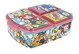 Theonoi Kinder Brotdose / Lunchbox / Sandwichbox wählbar: Frozen PJ Masks Spiderman Avengers - Mickey – Paw aus Kunststoff BPA frei - tolles Geschenk für Kinder (Paw Patrol)
