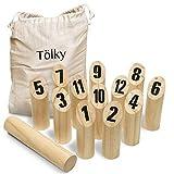 Toyfel Tölky Outdoor Holzspiel Wurfspiel aus Finnland – aus FSC® Holz – Holzspiel für Kinder und Erwachsene – Holzwurfspiel Outdoor/Indoor Games Outdoor Toys