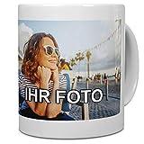 printplanet® - Tasse mit Foto Bedrucken Lassen - Fototasse Personalisieren – Kaffeebecher zum selbst gestalten (Weiß)