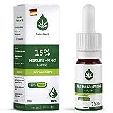 Natura-Med15% C-Active Natur Öl Tropfen 20ml |100% reines Naturprodukt•vegan•EU zertifizierter Anbau•hochdosiert und rein – made in DE - Prozent (20ml)