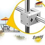 Sonnenschirmhalter Balkongeländer - Sunnystar, der Edle aus Aluminium - Exklusiver Balkon Schirmhalter für Sonnenschirme mit Schirmstock Ø 20-50mm - Made in Germany